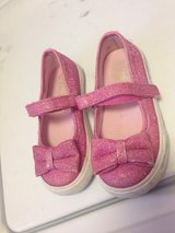 Children place girls size 7 sparkle shoes in Okinawa, Japan