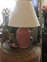 Mauve lamp with butterfly shade in Cherry Point, North Carolina