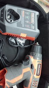 "3/8"" Ridgid drill, charger, battery in Yucca Valley, California"