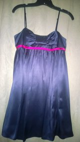 Navy party dress in Orland Park, Illinois