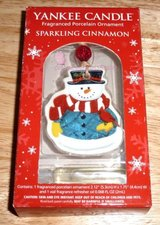 NEW! YANKEE CANDLE Fragranced Porcelain Snowman Ornament in Bartlett, Illinois