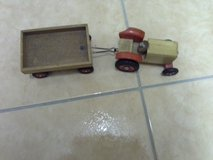 small kids wooden tractor with trailer in Baumholder, GE
