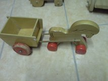 kids wooden horse with carriage in Baumholder, GE