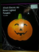 """New 47"""" Electric Air Blown Lighted Halloween  Pumpkin in Oswego, Illinois"""