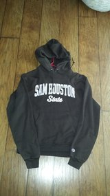 Sam Houston Sweatshirt with Hood (Brown/Pink) in Kingwood, Texas