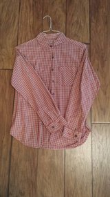At Last & Co. Red Plaid Shirt, Size Small in Kingwood, Texas