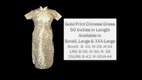 Gold Print Chinese Dress in Belleville, Illinois
