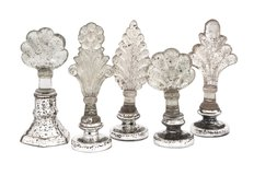 Set of 5 - Laila Glass Finials in Los Angeles, California