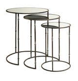 Set of 3 - Flouressa Mirror Top Nesting Tables in Los Angeles, California