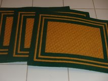 6 handmade placemats Packers Green and Gold in Kingwood, Texas