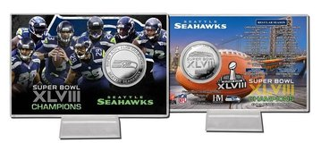 *** Seattle Seahawks Highland Mint Schedule Coin Card *** in Fort Lewis, Washington