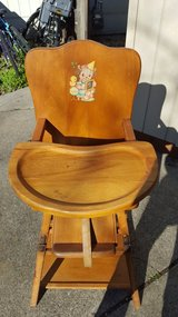 Vintage Convertible Highchair Table in Vacaville, California