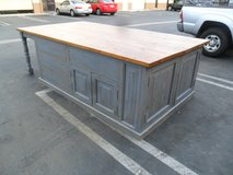 Kitchen Island custom made from reclaimed wood in the USA in Los Angeles, California