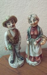 Man & Lady Gardening Statues in Conroe, Texas