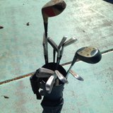 Patty Berg golf clubs and bag in Alamogordo, New Mexico