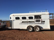 Four horse slant bumper pull with tack room in Alamogordo, New Mexico