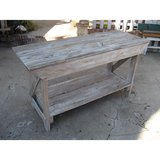 SOFA TABLE recycled wood made in USA in Los Angeles, California