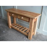 Sofa table made from reclaimed wood custom made in the USA in Los Angeles, California