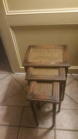 antique nesting side tables in Houston, Texas
