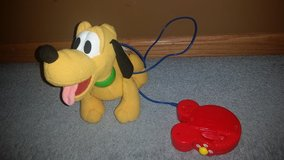 DISNEY MATTEL WALK 'N WAG BABY PLUTO WALKING DOG W/REMOTE LEASH in Joliet, Illinois