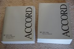 2003-2006 Accord Service Manual and V6 Supplement in Chicago, Illinois