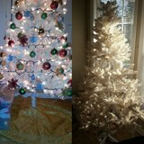 5.5 ft White Pre-lit Xmas Tree in Beaufort, South Carolina