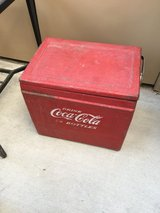 70 year old Coca Cola cooler in Riverside, California