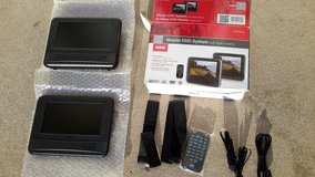 RCA 7 inch mobile DVD system with dual screens in Tinley Park, Illinois