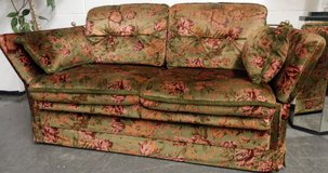 Nice Dark Green Sleeper Couch with Pattern in Ramstein, Germany