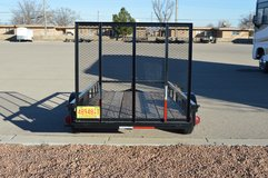Carry-On Trailer 5-ft x 10-ft Treated Lumber Utility Trailer with Gate in Alamogordo, New Mexico
