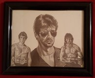 Classic Stallone drawing in Camp Lejeune, North Carolina