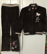 Girl velvet suit set size 10 & 12 in Houston, Texas