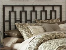 Custom wood head board in Camp Lejeune, North Carolina