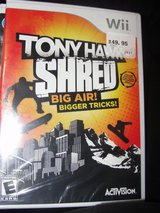 "NEW ""TONY HAWK SHRED"" WII GAME IN PLASTIC in Camp Lejeune, North Carolina"