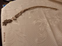 "15"" Vintage Goldtone and Pearl Necklace with  Tassle in Joliet, Illinois"