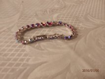 Pretty Silvertone Bracelet with colorful stones in Joliet, Illinois