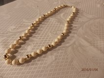 "16"" Goldtone and Cream Necklace in Joliet, Illinois"