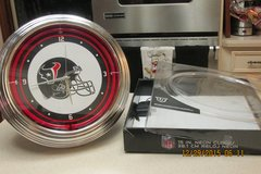 """15-Inch Official NFL """"Texans"""" Clock In Box in Houston, Texas"""