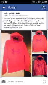 Woman's UNDER ARMOUR HOODY in Fort Campbell, Kentucky