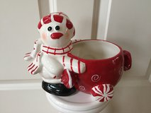 Christmas Snowman Candy Dish in Aurora, Illinois