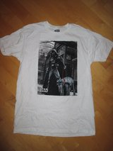 """New! Men's Star Wars T-Shirt Size Large White Darth Vader """"ghetto superstar"""" in Bolingbrook, Illinois"""