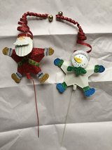 Christmas Santa & Snowman Decor in Lockport, Illinois