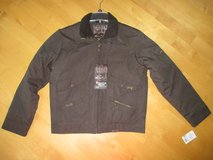Men's Brown Lined Bomber jacket winter coat size Medium NEW with Tags!! in Bolingbrook, Illinois