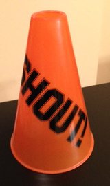 Plastic Orange and Black Megaphone in Wheaton, Illinois