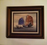 Small Oriental Boat Painting in Glendale Heights, Illinois