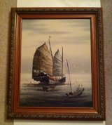 Large Oriental Boat Painting in Glendale Heights, Illinois