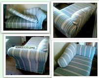 1 SOFA-CHAICE + 1 ps SLIPCOVER FOR CHAISE LOUNGE STRIPED WASHABLE in Camp Lejeune, North Carolina