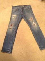 American Eagle Outfitters Jeans with red in Fort Riley, Kansas