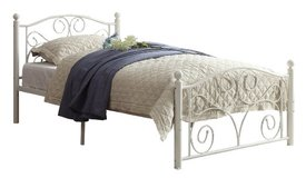 NEW Twin White Metal Bed Frame in Beaufort, South Carolina