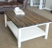 Wood coffee table shelf storage in Camp Lejeune, North Carolina
